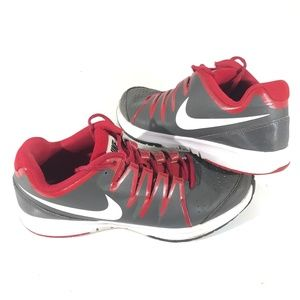 Nike Vapor Court Classic 631703-200 Gray Red SZ 11